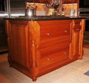 kitchen island on beautiful wood stand