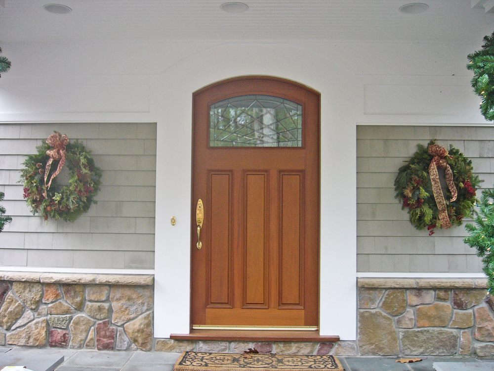 Front Door with rounded top