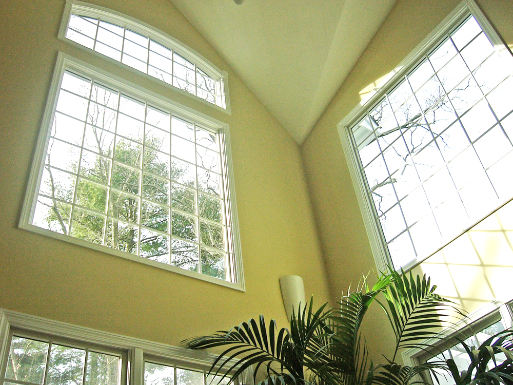 These complex ceilings and windows are amazing! Only Don Wright can make this work!