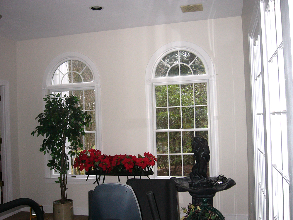The arched windows are especially elegant.