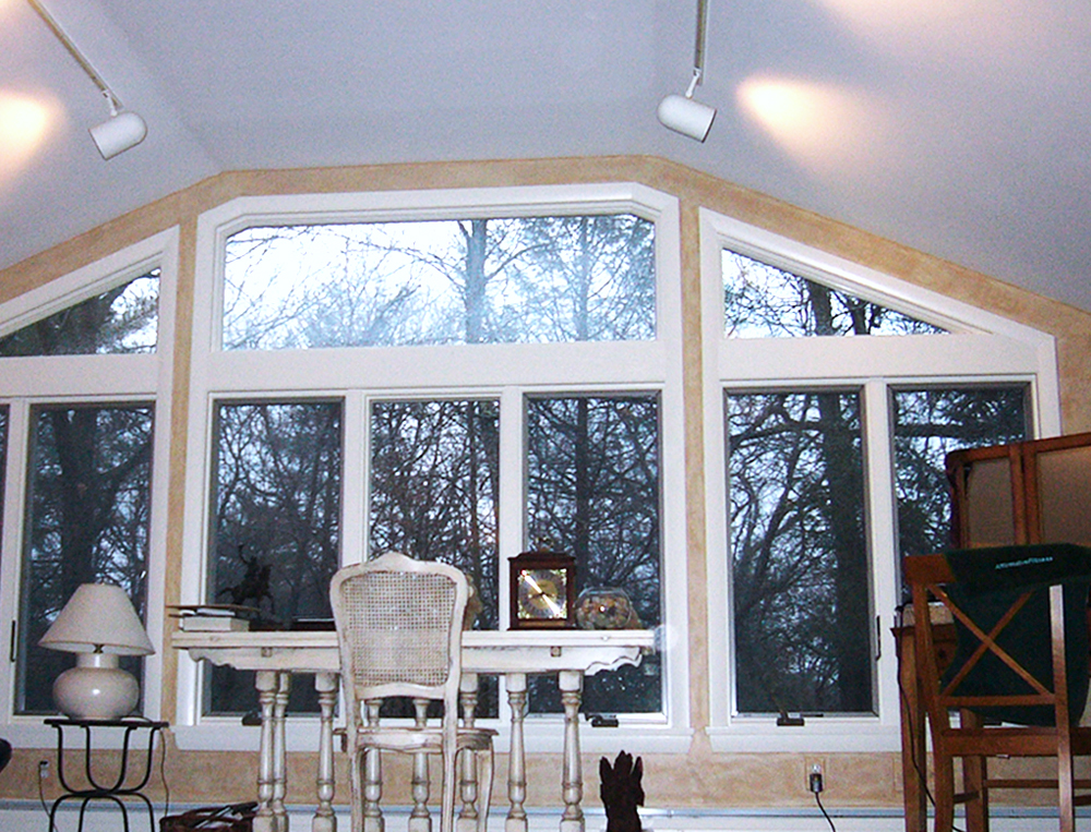 "This view brings  ""working at home"" to a new level. Notice the custom windows that show off the great lines of the roof!"