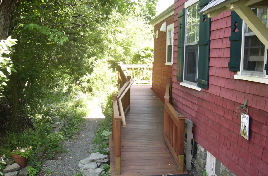 The beautiful railing exemplifies how accessibility features can enhance the look of your home.