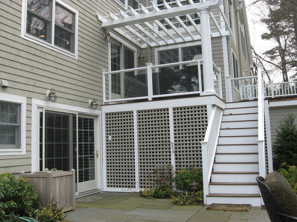 As with other Don Wright projects, the details make the space unique and beautiful - from the lattice work to the glass on the deck!