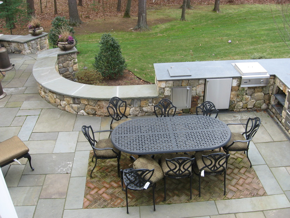 A second view of this awesome stone patio.