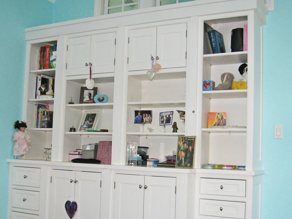 Don Wright can build any configuration of builtin cabinets - useful and beautiful for any room!