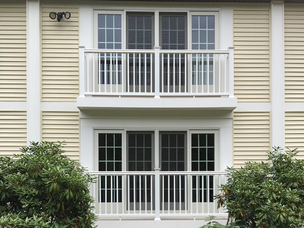 This pair of balconies is awesome both inside and out.