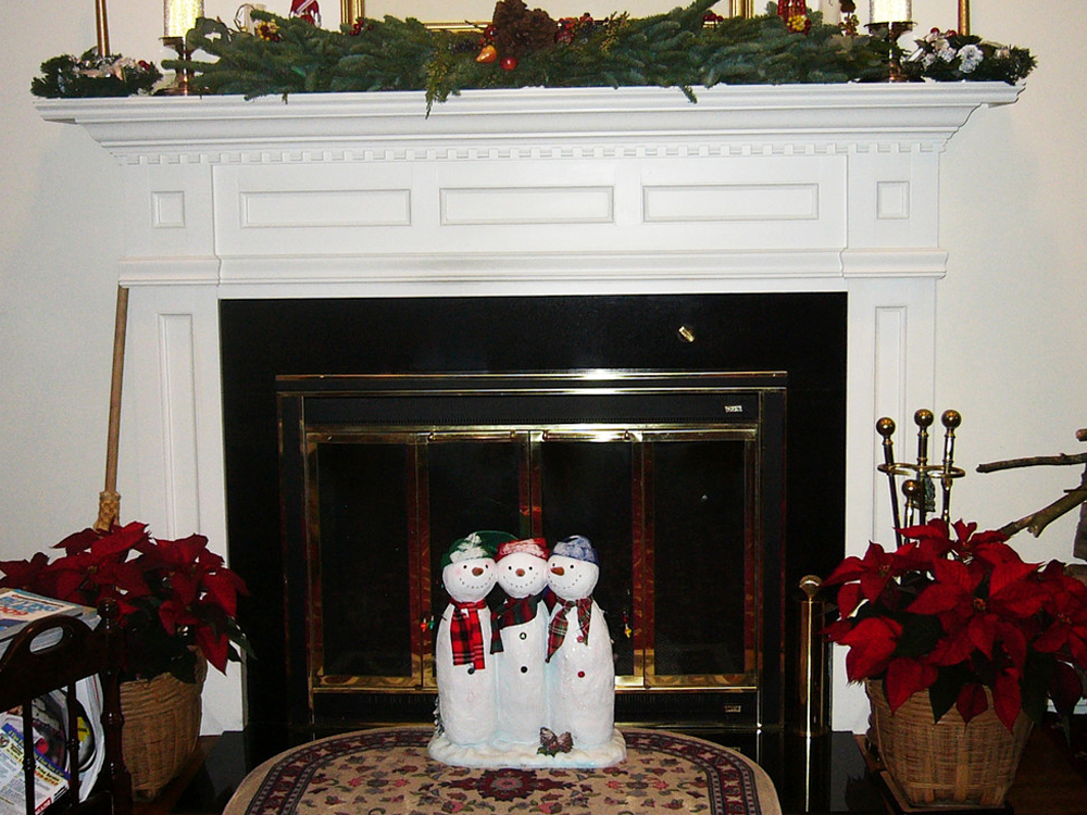 The custom fireplace mantle is beautiful!