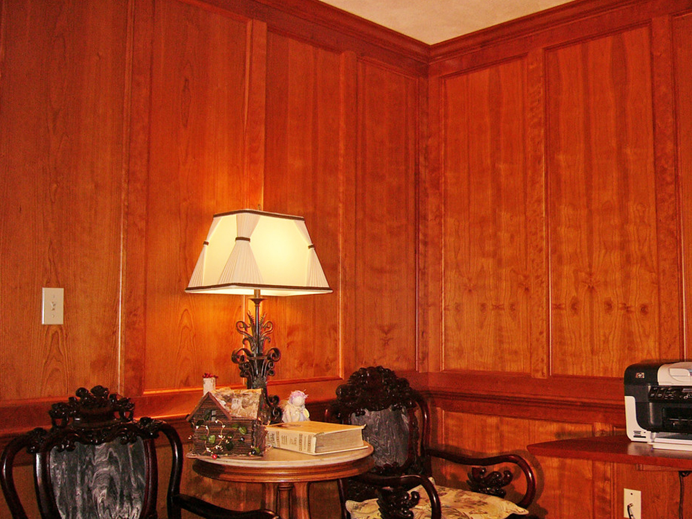 This custom wood paneling is beautiful enough for any room - even a formal living room or dining room!